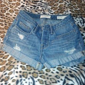 Bullhead denim co buttonfly cuffed shorts